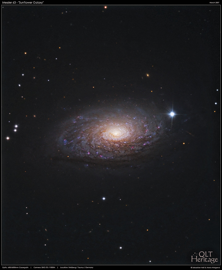 Messier 63 (NGC 5055, Sunflower Galaxy)